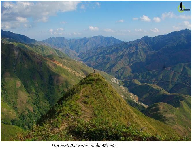 Địa hình đất nước nhiều đồi núi