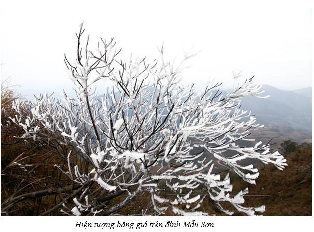 Hiện tượng băng giá trên đỉnh Mẫu Sơn