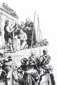 Hình 2: Xử tử Sác-lơ I
