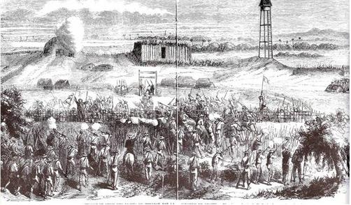 Pháp tấn công phòng tuyến có đài quan sát ở Đại đồn Chí Hòa