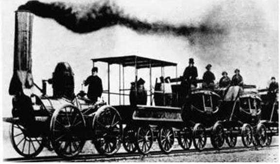 Hình 2: Xe lửa Xti-phen-xon