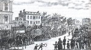 Hình 2: Công nhân Anh đưa Hiến chương đến Quốc hội