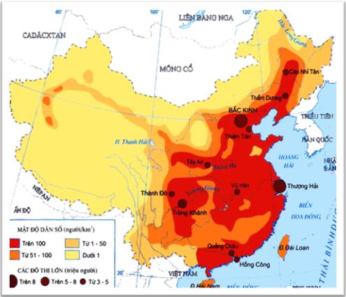 Mật độ dân số Trung Quốc