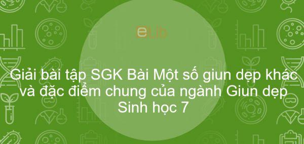 Giải bài tập SGK Sinh học 7 Bài 12: Một số giun dẹp khác và đặc điểm chung của ngành Giun dẹp