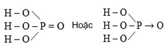 Hình 1: Cấu tạo phân tử H3PO4