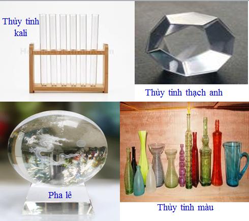 Hình 1: Một số loại thủy tinh