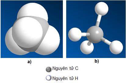 Hình 2: Mô hình phân tử Metan CH4