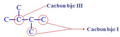 Hình 2: Bậc Cacbon