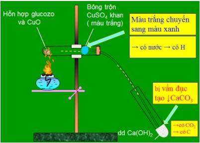 Thí nghiệm Xác định định tính cacbon và hiđro