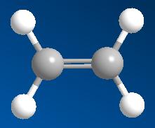 Hình 1: Mô hình phân tử etilen