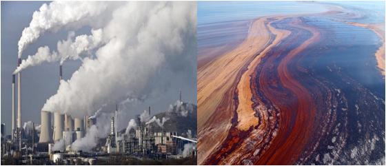 Hình 4: Ô nhiễm môi trường do khai thác dầu mỏ