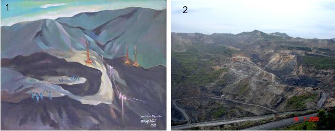 Hình 6:1- Mỏ than Nông Sơn; 2- Mỏ than Hàn Tú
