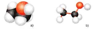 Hình 2: Mô hình phân tử etanol