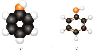 Hình 1: Mô hình phân tử Phenol