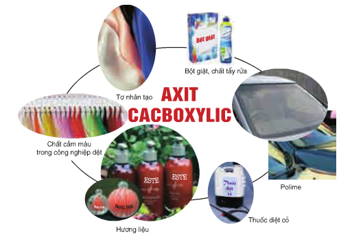 Ứng dụng của axit cacboxylic