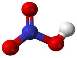 Hình 2: Mô hình phân tử HNO3