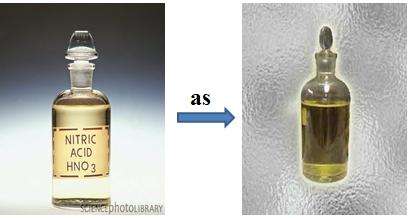 Hình 3: Sự phân hủy HNO3 dưới tác dụng của ánh sáng