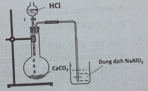 Thí nghiệm HCl tác dụng với CaCO3