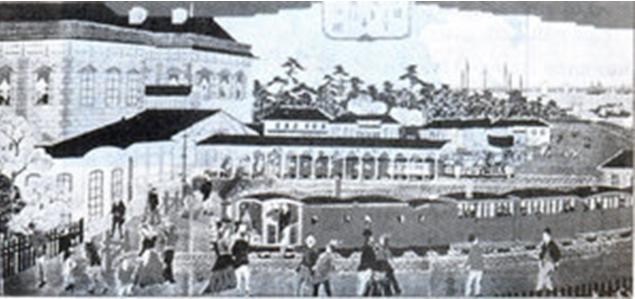 Hình 2: Lễ khánh thành một đoàn tàu ở Nhật Bản