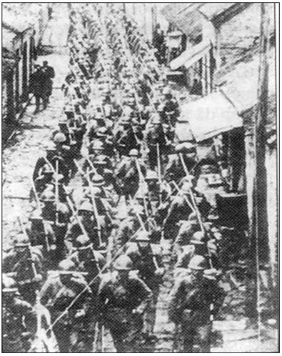Hình: Quân đội Nhật chiếm Mãn Châu (9- 1931)