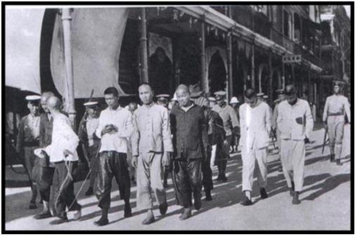 Hình 1: Tưởng Giới Thạch đảo chánh (12-4-1927), bắt các đảng viên Cộng sản ở Thượng Hải.