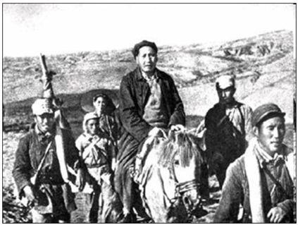 Hình 2: Mao Trạch Đông trên đường Vạn lí trường chinh
