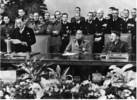 Hình 1: Lễ kí kết hiệp ước thành lập Liên minh phe Trục phát xít