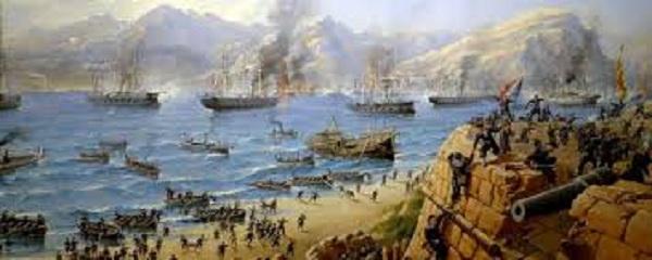 Pháp tấn công cửa biển Đà Nẵng (tranh minh họa)
