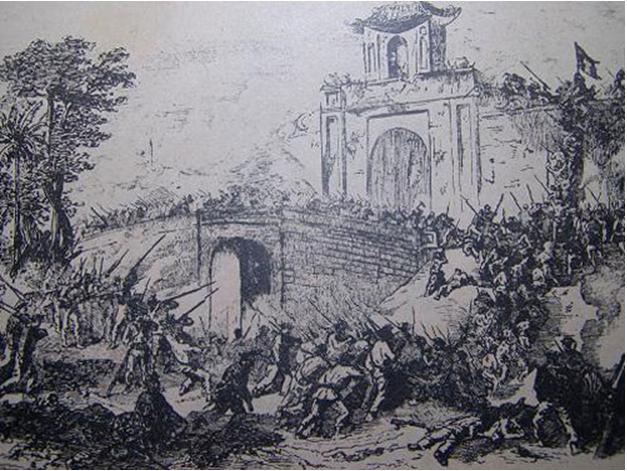 Pháp tiến đánh thành Gia Định
