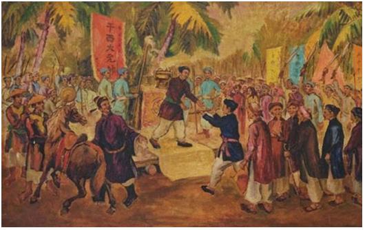 Trương Định nhận phong soái