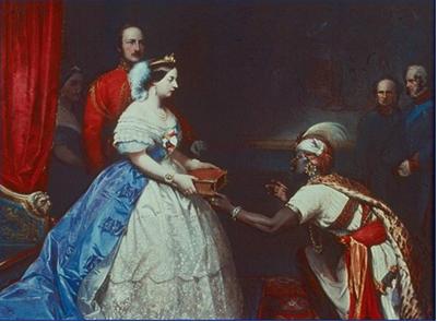 Hình 1: Nữ hoàng Victoria trở thành nữ hoàng Ấn Độ (1877)