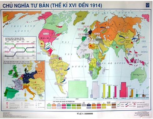 Hình : Lược đồ Chủ nghĩa tư bản từ thế kỉ XVI- 1914