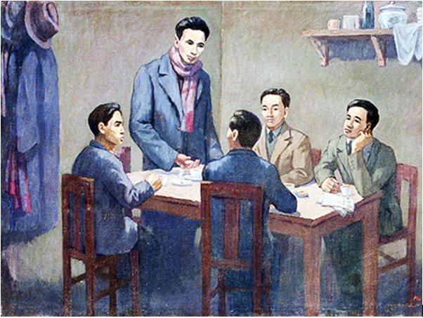 Hình 5: Hội nghị hợp nhất các tổ chức cộng sản (minh họa)