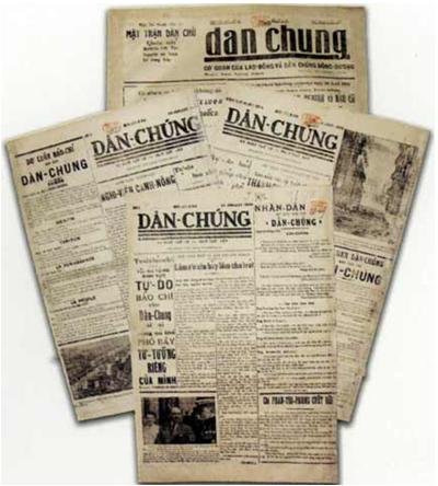 Hình 2: Báo Dân chúng ra đời trong Phong trào dân chủ 1936 - 1939
