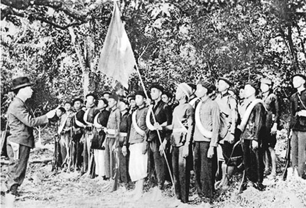 Hình 6: Lễ thành lập Đội Việt Nam tuyên truyền giải phóng quân