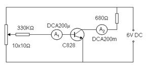 Mạch khảo sát đặc tính khuếch đại của Transistor