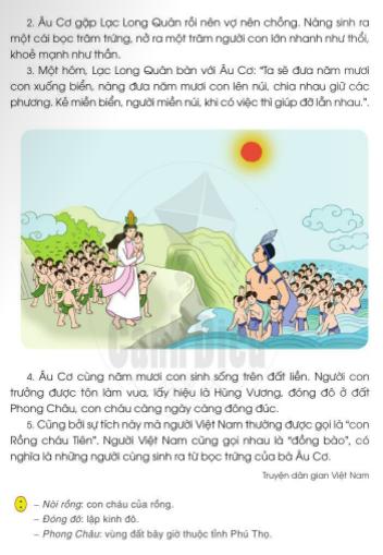 [Sách cánh diều] Soạn tiếng việt 2 tập 2 bài 32: Người Việt Nam
