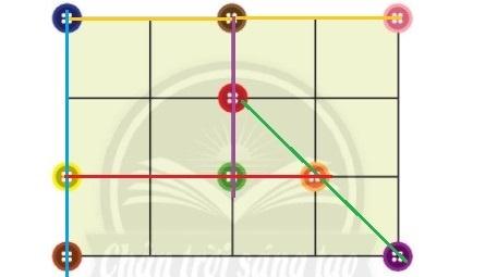 Giải toán 2 Chân trời sáng tạo bài: Ba điểm thẳng hàng