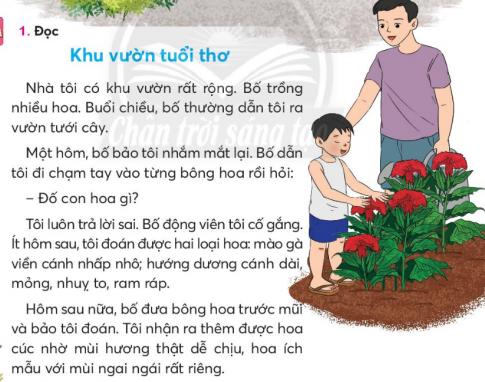 [Sách chân trời] Soạn tiếng việt 2 tập 2 bài 1: Khu vườn tuổi thơ