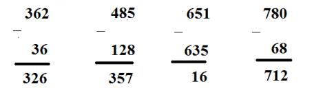 [Kết nối tri thức và cuộc sống] Giải toán 2 bài 62: Phép trừ (có nhớ) trong phạm vi 1 000