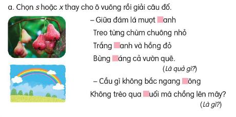 Dựa vào tranh nói tiếng bắt đầu bằng g hoặc gh
