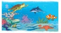 Nói tên các loài vật trong tranh. Kết hợp từ ngữ ở cột A với từ ngữ ở cột B tạo nên câu hoạt động