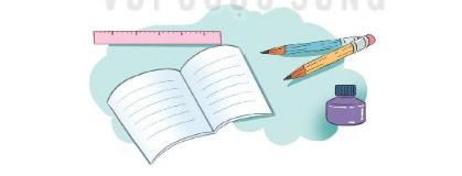 Chọn từ chỉ đặc điểm của mỗi đồ dùng học tập trong hình