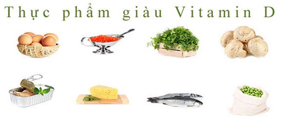 Nguồn thức ăn giàu Vitamin D