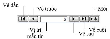 Hình 2. Các nút lệnh di chuyển trong bảng