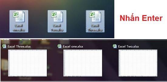 Mở nhiều bảng tính Excel