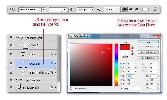 Cách thay đổi màu text mà không cần highlight