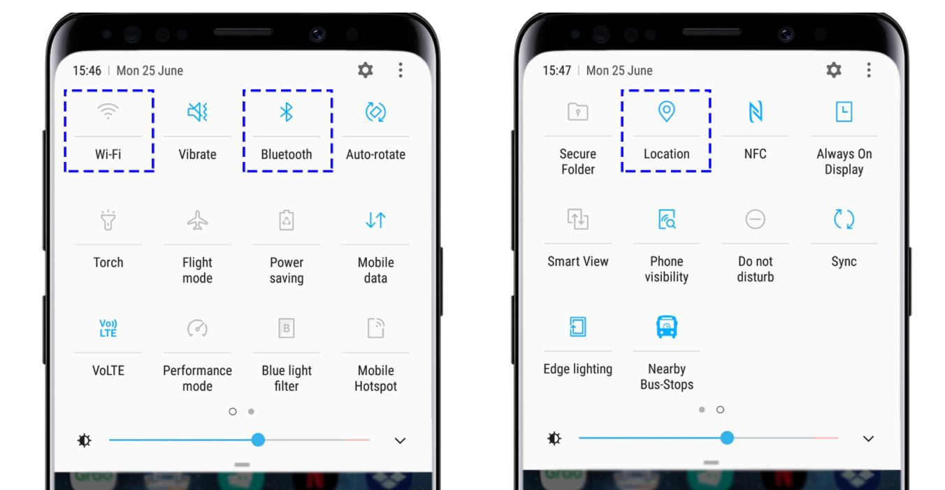 Tắt WiFi, Bluetooth và GPS khi không sử dụng