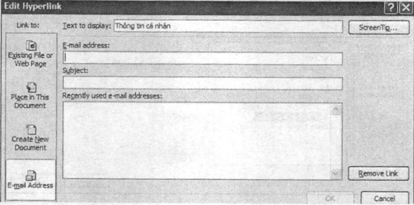 Liên kết đến một địa chỉ điện tử