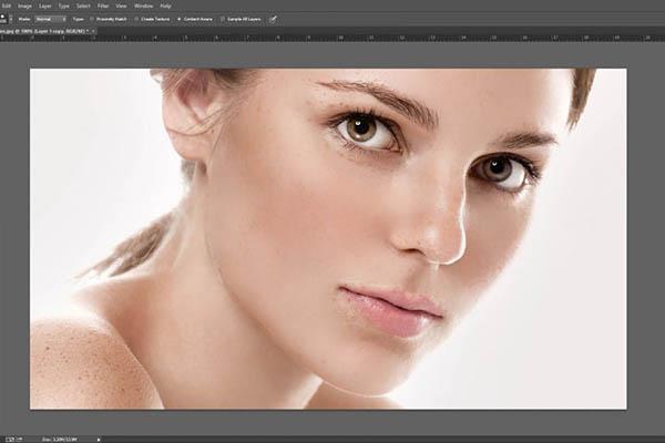 Kết quả làm mịn da bằng Photoshop